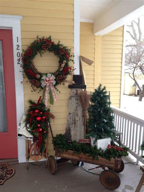 primitive porches my primitive christmas porch decor