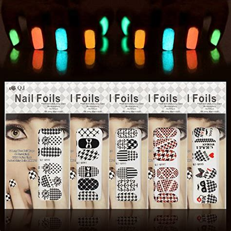Nail Sticker Sticker Kuku 45 nail set line nail stickers colored rhinestones import it all