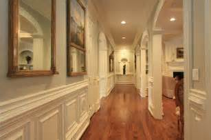 Crown Molding In Hallway Traditional Hallway With Crown Molding Wainscoting In