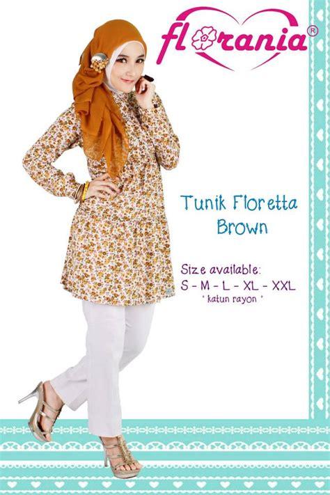 Tunik Muslimah H 3016 busana muslimah murah baju tunik murah floretta florania