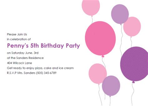 birthday templates invitations free free birthday invitation templates http webdesign14