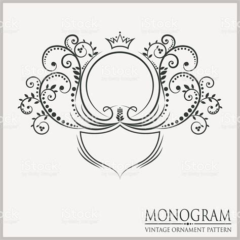 free monogram template template wedding monograms stock vector 491466968 istock