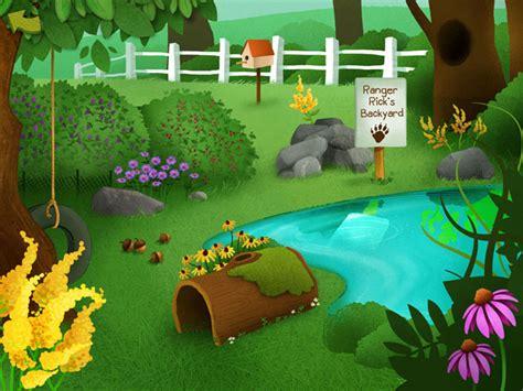 backyard cartoon ranger rick s tree house fablevision studios