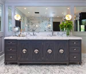 Polished Nickel Kitchen Faucets gray double vanity contemporary bathroom jeff lewis