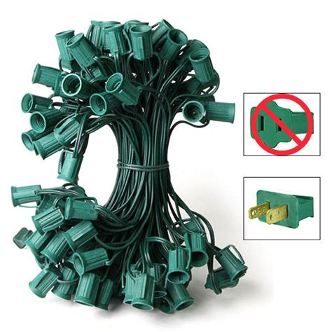 c9 christmas light stringer green wire 50 ft