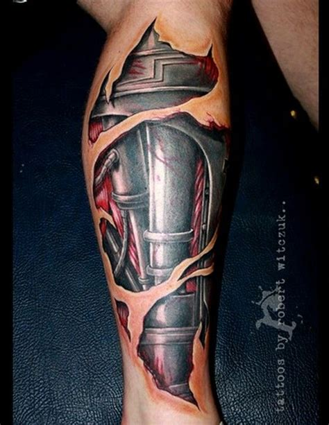 bionic leg tattoo tattoos pinterest ink leg tattoos