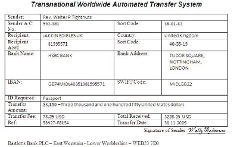 Telex Transfer Letter Format Barclays Bank Transfer Slip Images Frompo 1