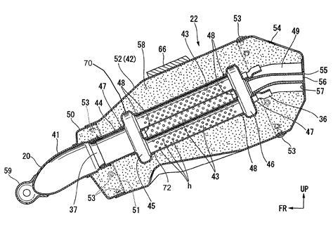 Motorrad Auspuff Querschnitt by Patent Us8042649 Vehicular Muffler And Motorcycle