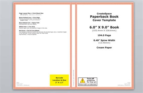 How To Make A Full Print Book Cover In Microsoft Word For Createspace Lulu Or Lightning Source Picture Book Template For Createspace