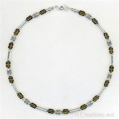 mens beaded jewelry designs swcreations beaded jewelry designs smokey quartz