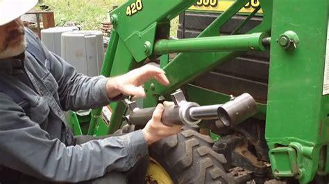 upgrading john deere fel loader cylinders part  youtube