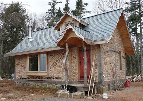 cordwood cottage in scotia cordwood construction