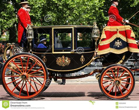 royal couch queen elizabeth ii on the royal coach editorial stock