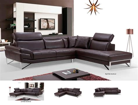 modern brown leather couch modern brown leather sectional sofa ef194 leather sectionals