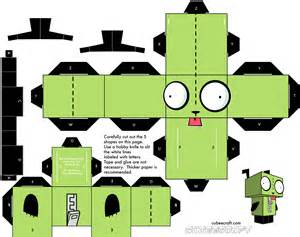 Www Paper Craft - invader zim papercraft gir wallpaper 1482x1173 59317