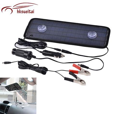boat car charger sunlight 12v battery portable car boat power solar panel