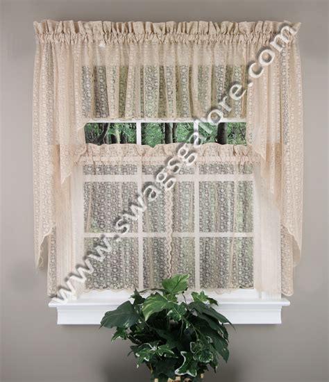 Charlotte Lace Kitchen Curtains Antique United Jabot