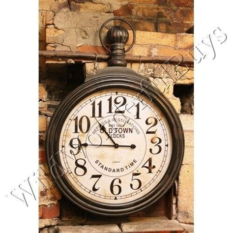 antique style pocket watch large wall clock by jones and vintage style oversized pocket watch wall clock industrial