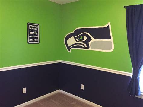 nfl paint colors seahawks bedroom paint scheme seahawks football