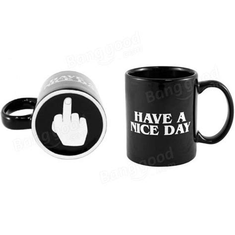 nice coffee cups 10oz novelty ceramic middle finger coffee cups personality
