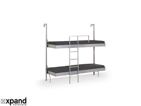 foldable bunk beds compatto murphy bunk bed from italy expand furniture
