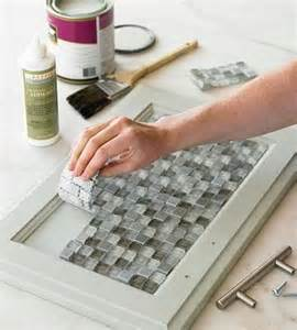 Diy Kitchen Cabinet Doors Designs by Mosaic Tiles On Cabinet Doors Interesting Idea Frosted