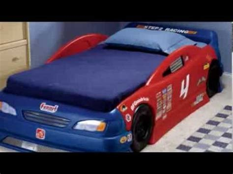 step 2 race car bed step2 stock car convertible bed youtube