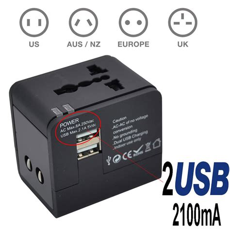 Universal Travel Changing Adapter As 24 Hour Non Stop Came Diskon universal travel ac adapter power outlet with dual