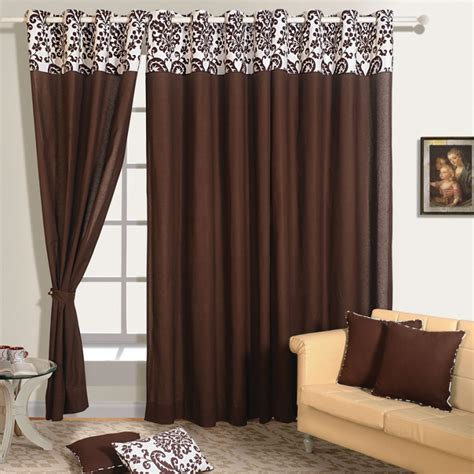 dark brown curtains buy dark brown color solid curtains online with readymade