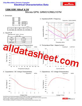 capacitor data sheet pdf grm31cr60j107m datasheet pdf murata manufacturing co ltd
