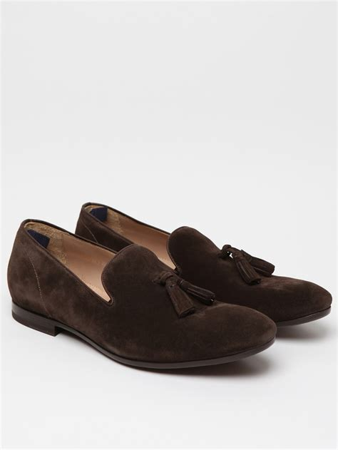 mens suede loafers with tassels mcqueen mcqueen mens suede tassel