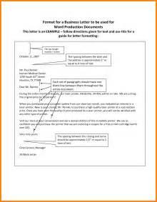 Business Letter Format Exle Spacing 5 Proper Letter Format Spacing Target Cashier