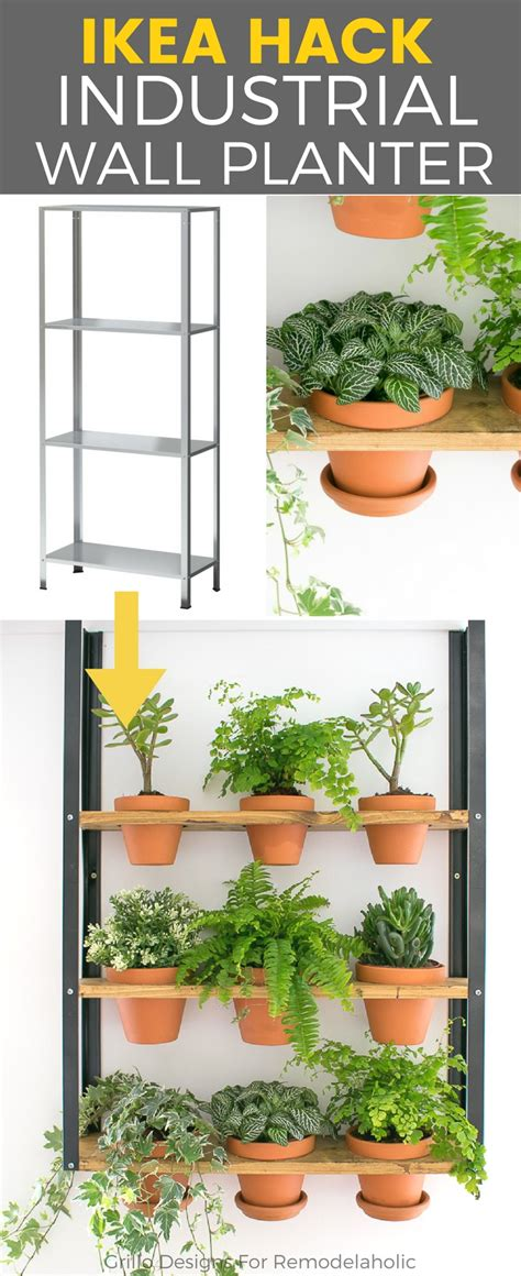 wall planters ikea hyllis ikea hack industrial wall planter grillo designs