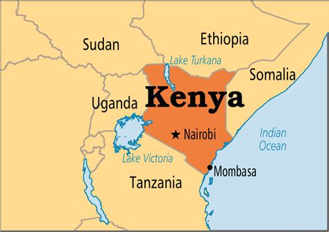 Kenya On World Map by Kenya Operation World