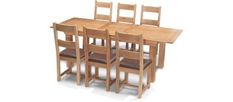 Extending Dining Table And Chairs Constance Oak 180 230 Cm Extending Dining Table And 6 Chairs Quercus Living