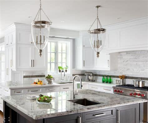 Kitchen Backsplashes For White Cabinets sino carrera marble irregular rectangles on backsplash