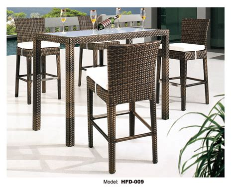 high top outdoor patio furniture high top patio table and chairs marceladick