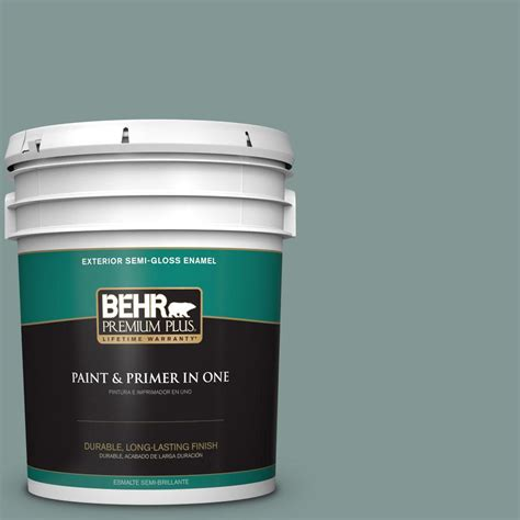 behr premium plus 5 gal t18 15 in the moment semi gloss enamel exterior paint 540005 the