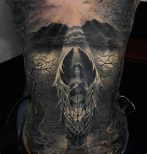 tattoo angel at sunrise ideas tattoo designs