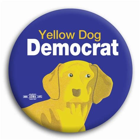 blue democrat yellow democrat blue background 2 25 quot button bt13684 democraticstuff