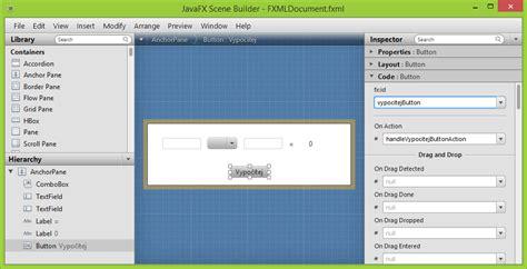 javafx scene builder tutorial 2 d 237 l jednoduch 225 kalkulačka v javafx