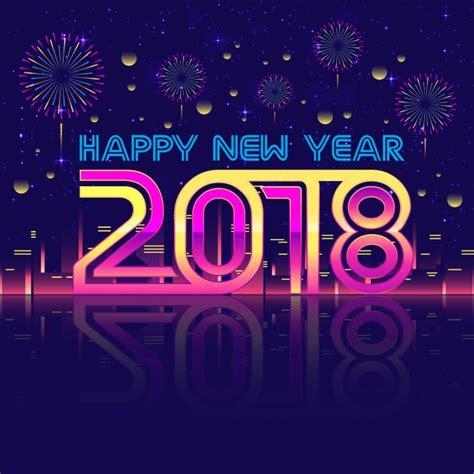 new year 2018 festival modern happy new year 2018 fireworks celebration card