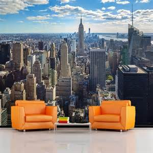 new york wall murals rainbow new york sunrise wallpaper mural photo giant wall