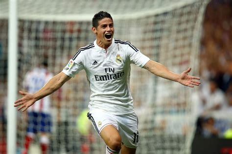 imagenes real madrid james james rodriguez scores his first real madrid goal conmebol