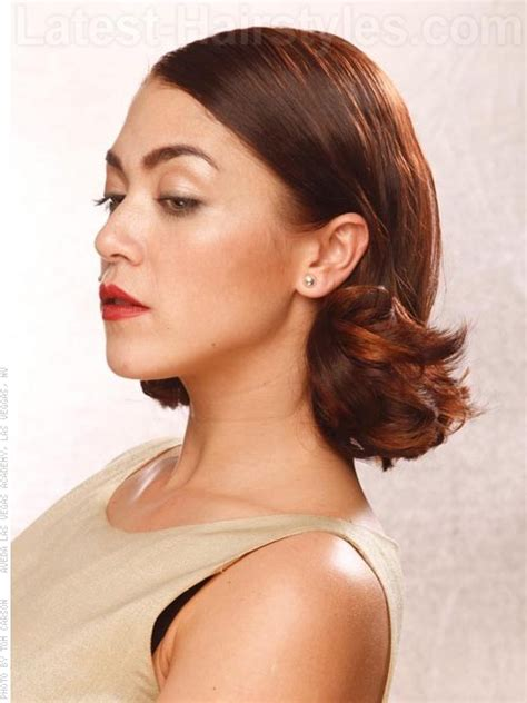 layered bob side view medium hairstyles oval face hairstyles by unixcode
