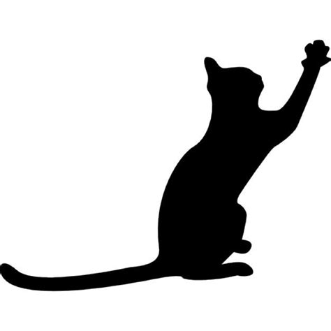 cat silhouette template stock vector illustration black cat silhouette