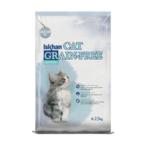 iskhan cat grain free kitten 6 5 kg makanan kucing
