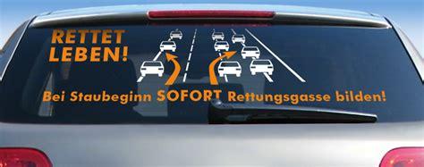 Aufkleber Rettungsgasse Kostenlos by Rettungsgasse Aufkleber F 252 R S Auto Zum Mitmachen