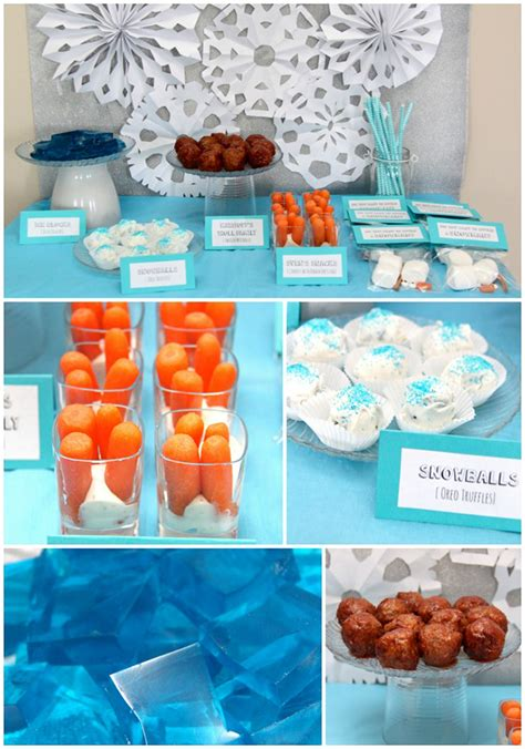 frozen themed birthday food eloise s frozen birthday party with free printables