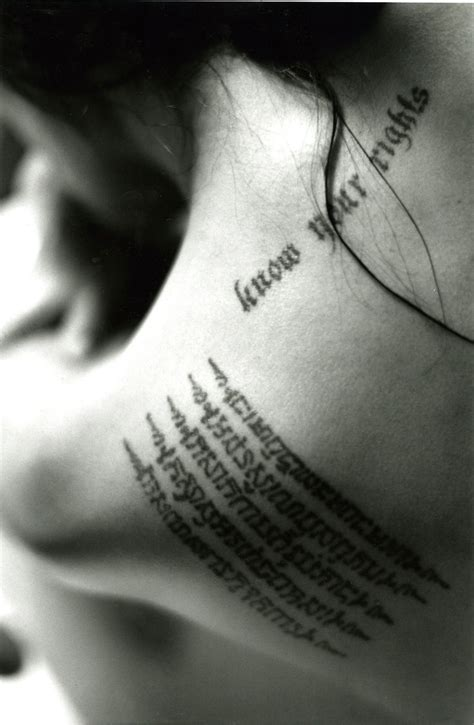 angelina jolie tattoo know your rights font 1000 images about angelina jolie on pinterest brad